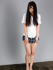Iori Sana posing in sexy pantyhose