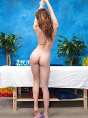 Emma seduced and fucked hard by her massage therapist